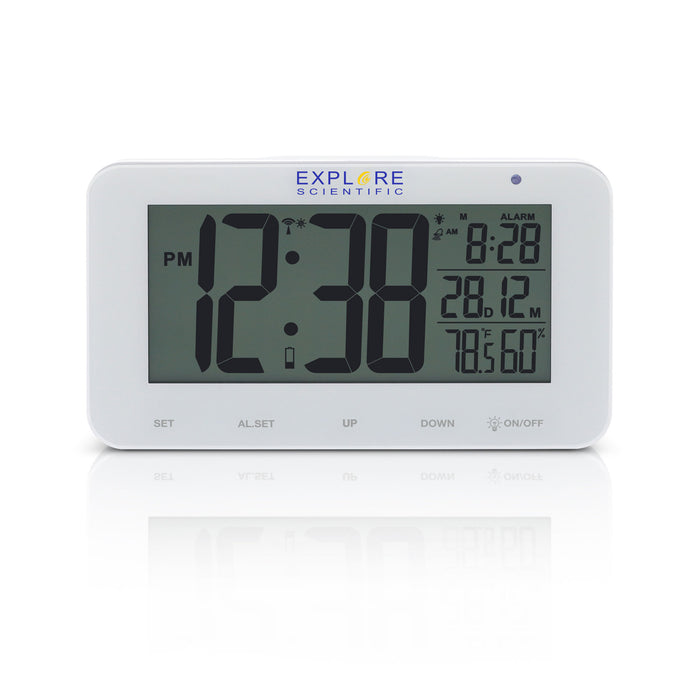 Explore Scientific Large Display Radio Controlled Alarm Clock