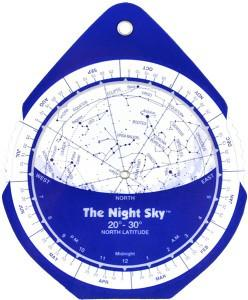 The Night Sky Planisphere SMALL Plastic 20 to 30 Degrees