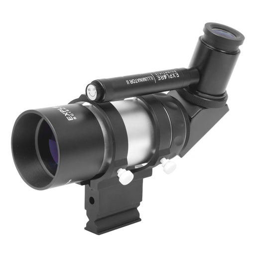 Explore Scientific 8x50 Illuminated Polar Right Angle Finder Scope with NEW long battery life Illuminator II