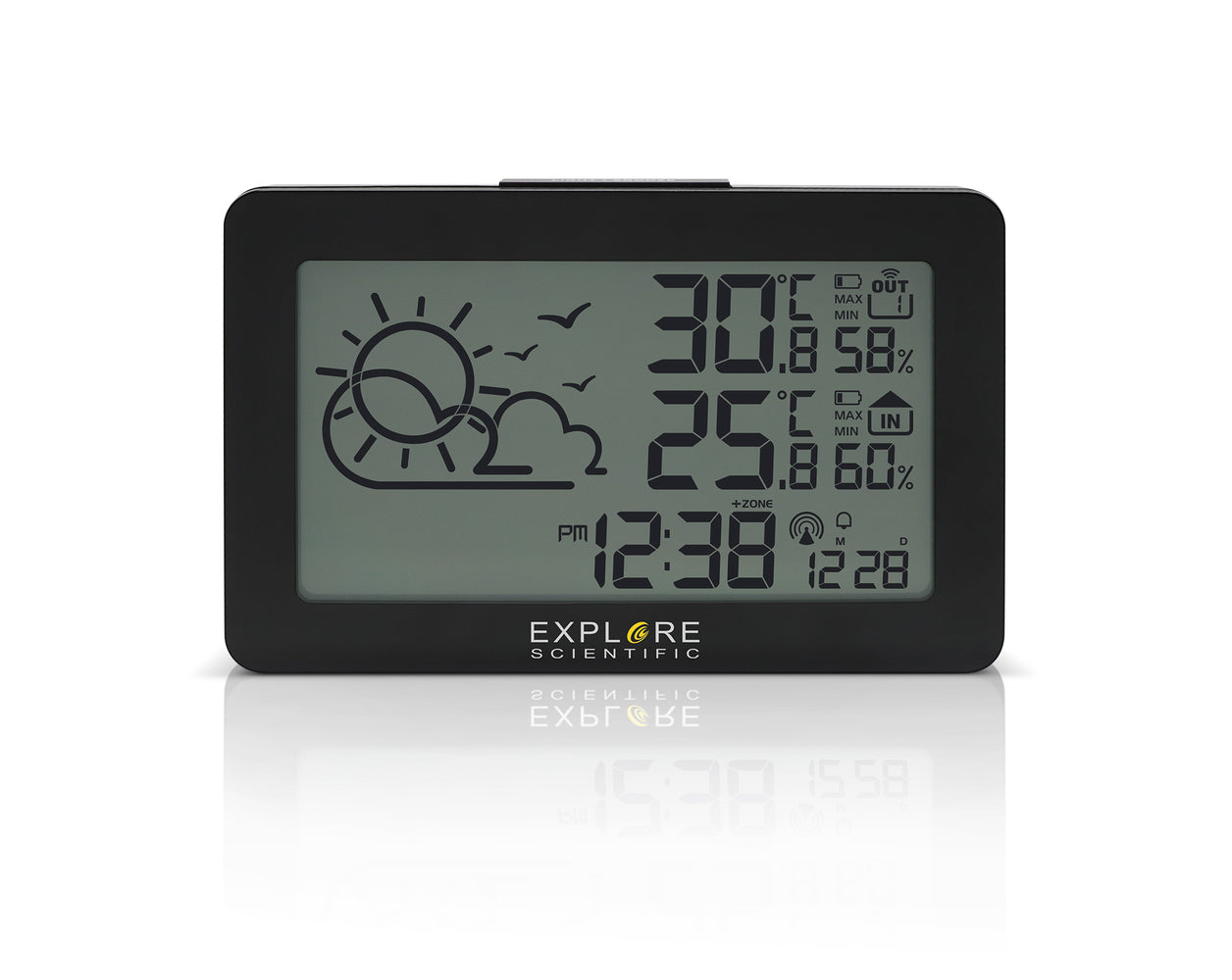 COMING SOON! Explore Scientific Large Display Weather Station with Temperature and Humidity