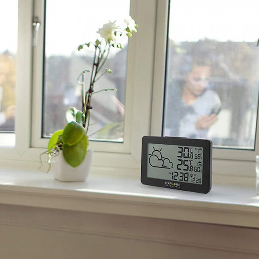 Explore Scientific Large Display Weather Station with Temperature and Humidity
