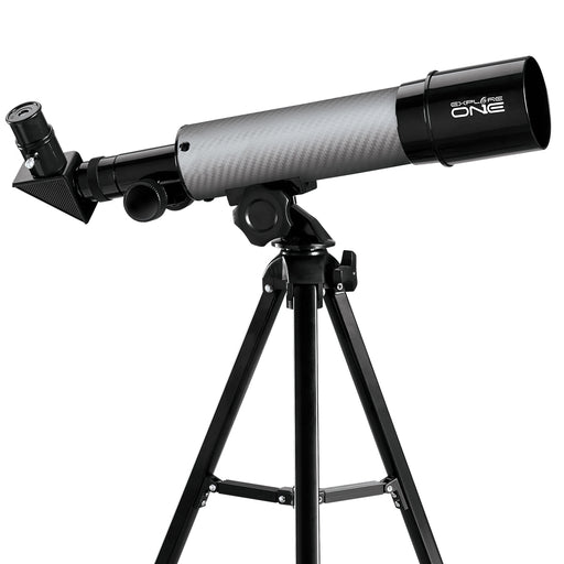 Explore One CF350 Silver Carbon Fiber Wrap 50mm AZ Mount Telescope
