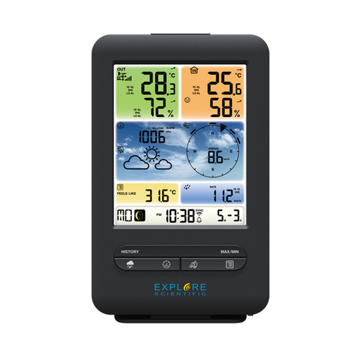 In Stock Now! Explore Scientific 5-in-1 WiFi Professional Weather Station with Weather Underground - WSX1001