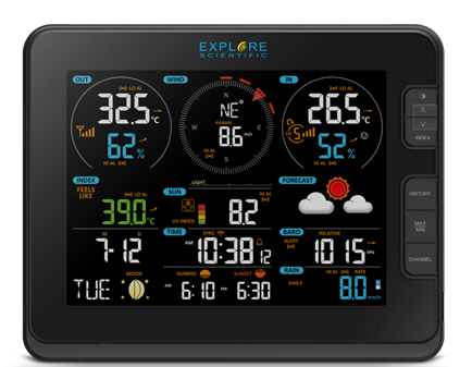 COMING SOON! Explore Scientific 7-in-1 WiFi Professional Weather Station with Weather Underground