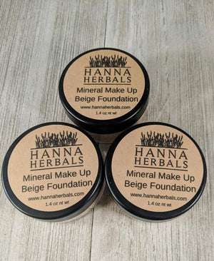 Beige Foundation - mineral makeup - foundation