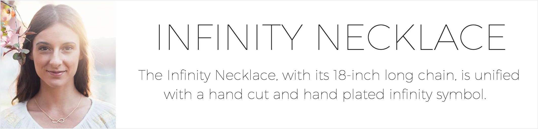 Infinity Necklace Ad