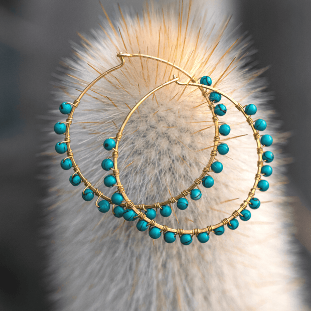 Luni Hoops Earring Purpose Jewelry Turquoise