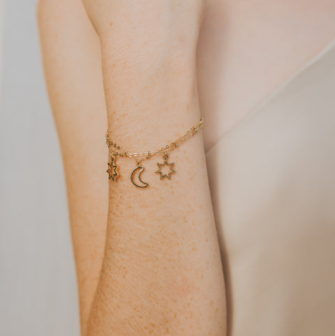 Fashion photo of Dream Bracelet with sun and moon