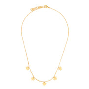 Constellation Necklace - ethically handcrafted gold necklace featuring star charms