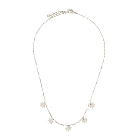 Silver Constellation Necklace featuring star charms