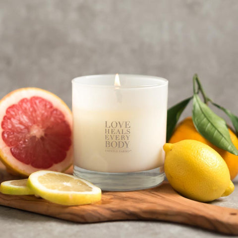 Love Heals Candle Gift Items Purpose Jewelry Citrus Wood