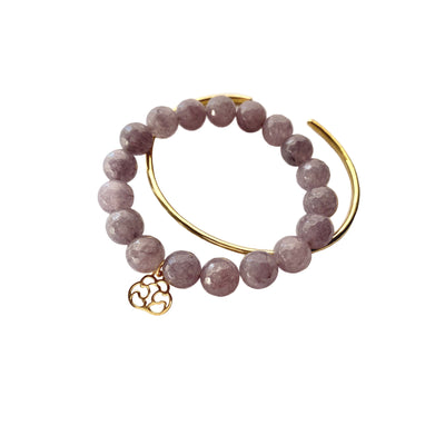 Mercy Stone Bracelet Bracelet Purpose Jewelry Lavender Gray