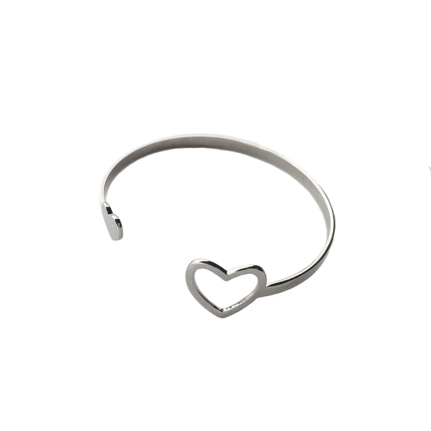 Miracle Heart Cuff Bracelet Purpose Jewelry Silver Tone