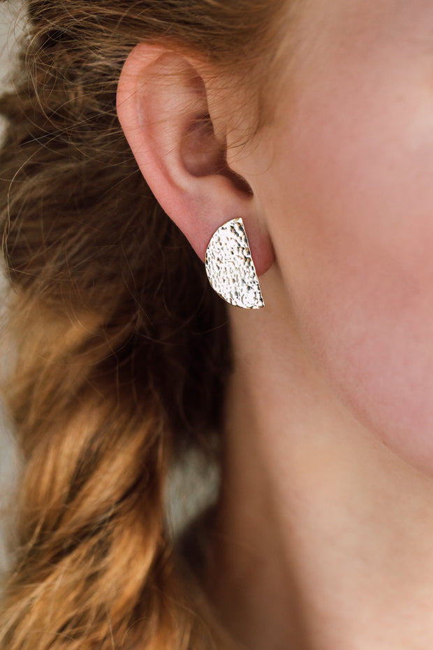 Amber Studs - Ethically handcrafted earrings that give back to non-profit