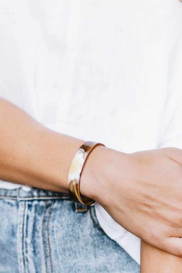 Arc Cuff - sustainably crafted Ankole bracelet that gives back to non-profit