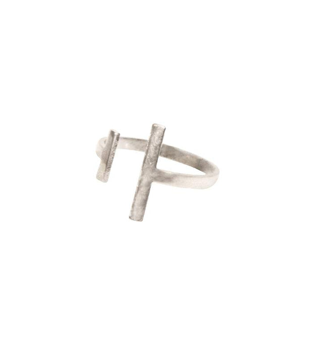 Handcrafted Silver Asymmetrical Ring