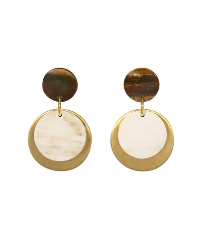 Audrey Earrings - sustainably handcrafted ankole earrings that give back to non-profit