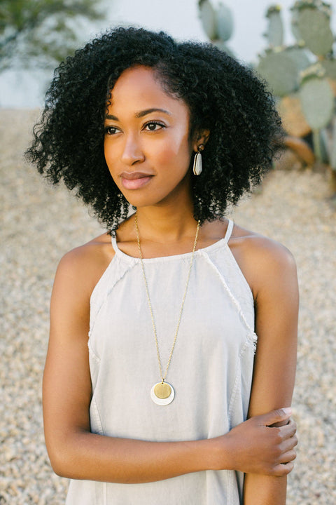 Audrey Necklace - sustainably handcrafted ankole necklace that give back to non-profit