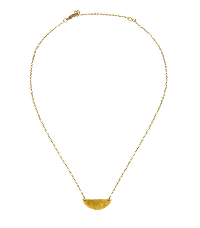 Ava Necklace - Ethically Handcrafted Brass Half Moon Necklace that gives back to non-profit