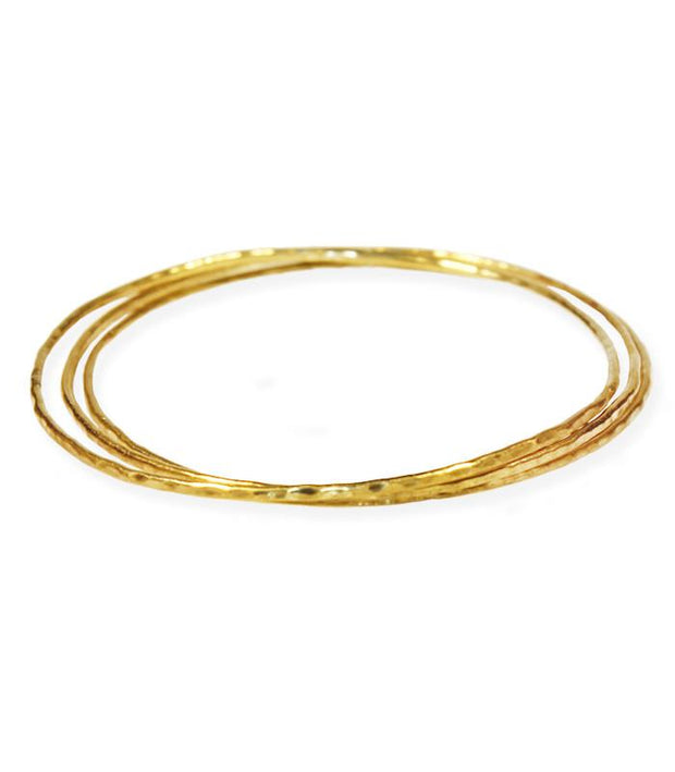 Ethically Handcrafted 14K Gold Bangle Bracelets that give back to non-profit, International Sanctuary