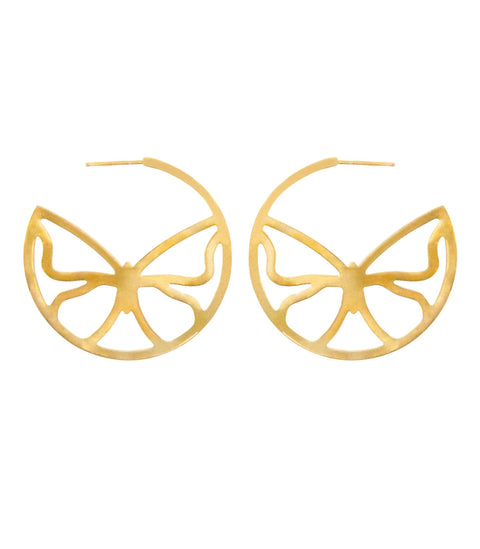 Breeze Butterfly Earrings - ethically handcrafted earrings in gold and silver that give back to nonprofit - International Sanctuary