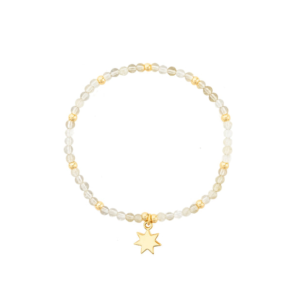 Yellow Crystals with Sun Charm on friendship bracelets