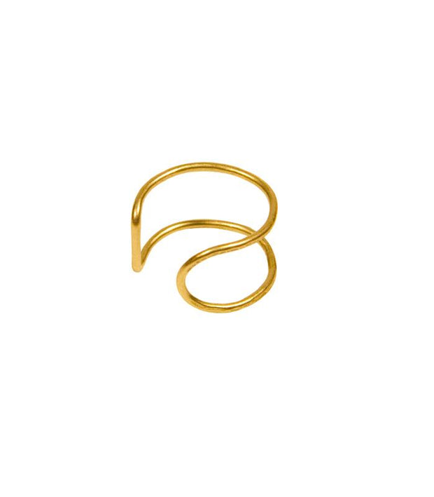 Chloe Ring - ethically Handcrafted Brass Delicate Geometric Ring by artisans that gives back to non-profit- International Sanctuary