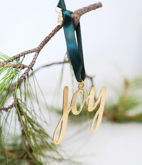 Joy Holiday Ornament handcrafted by young women escaping human trafficking