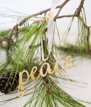 Ethically Handcrafted Peace ornament