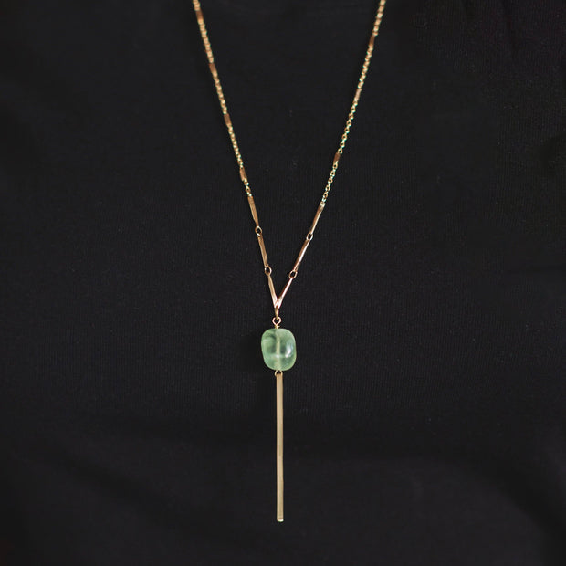 Cora Necklace - ethically handcrafted necklace with Green Grape Stone that gives back to non-profit - International Sanctuary