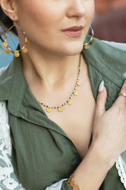 Cruz Necklace - ethically handcrafted necklace that gives back to non-profit - International Sanctuary - fights human trafficking