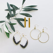 Dusk Drops with Olivia Hoops and Horizon Earrings - ethically handmade earrings
