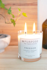 Freedom Candle Gift Items Purpose Jewelry