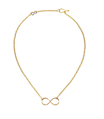 Handcrafted Gold Tone Infinity Necklace