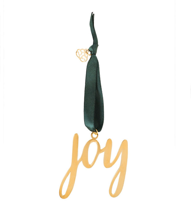 Brass Joy ornament ethically handcrafted by artisans escaping human trafficking