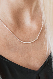 Handcrafted 14K Gold Short Curved Necklace