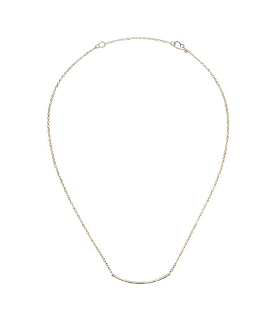 Handcrafted Rhodium Short Curved Necklace
