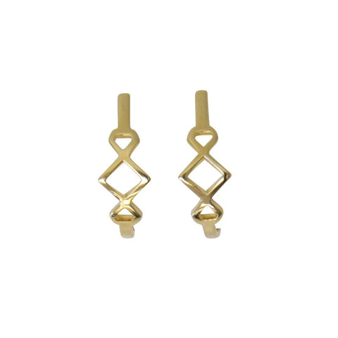 Muse Hoops Earring Purpose Jewelry 14k Gold