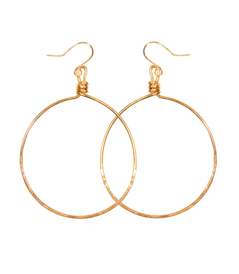 Handcrafted Brass Hoop Earrings