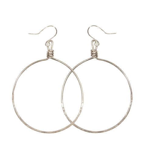 Handcrafted Silver Hoop Earrings