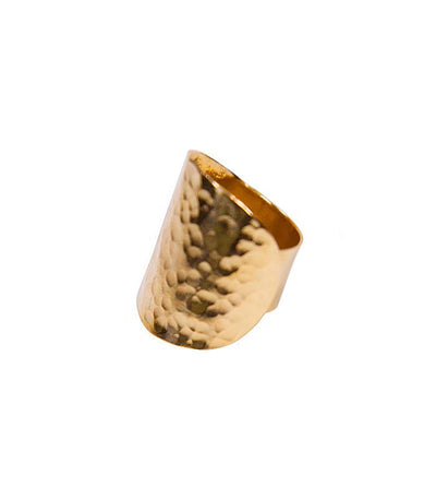 Handcrafted Hammered Brass Ring