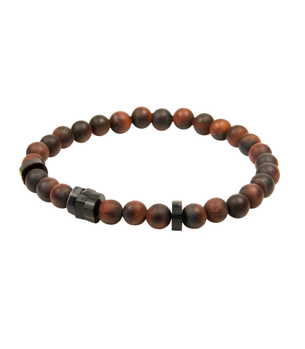 Handcrafted Rust Color Beaded Bracelet