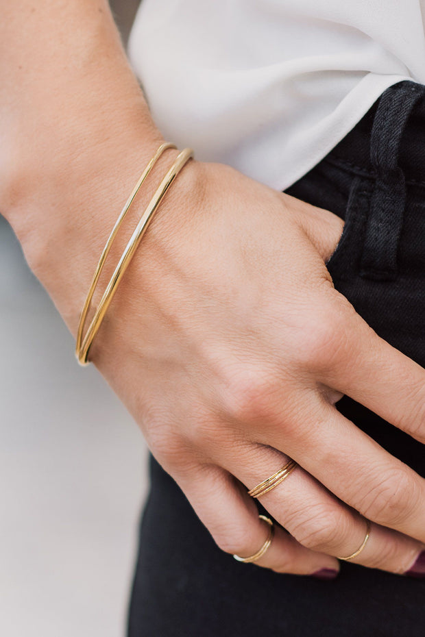Handcrafted 14K Gold Cuff Bracelets
