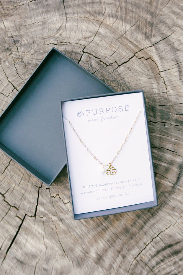 Handcrafted 14K Gold Purpose Jewelry Necklace