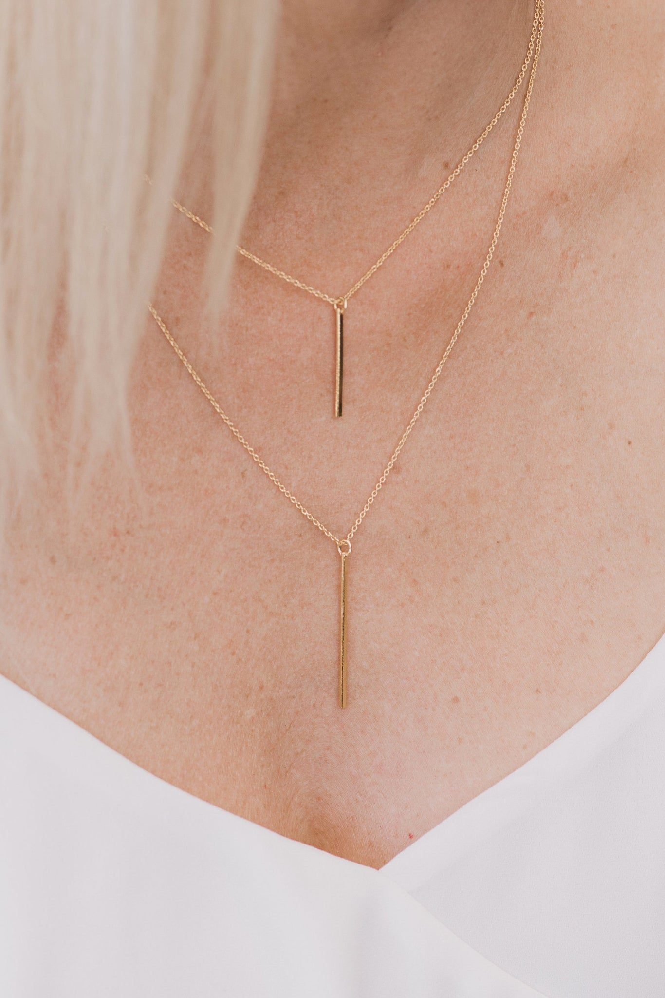 Handcrafted 14K Gold Bar Layered Necklace