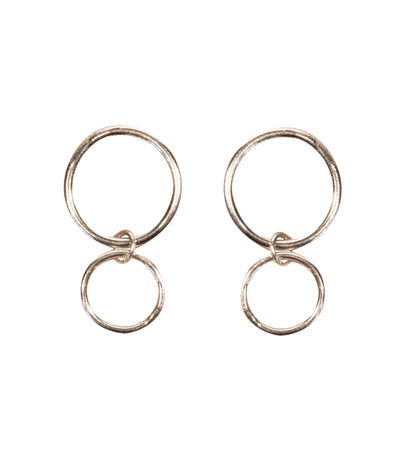 Handcrafted Silver Circle Earrings