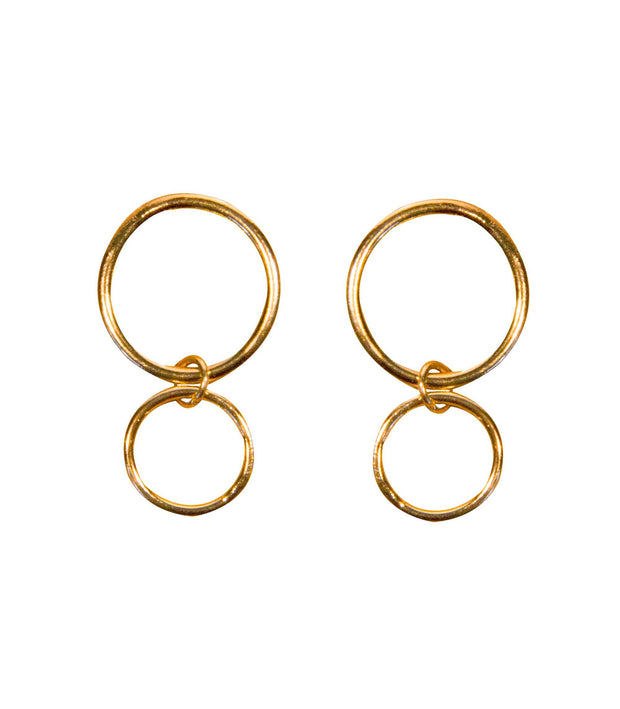 Handcrafted Brass Circle Earrings