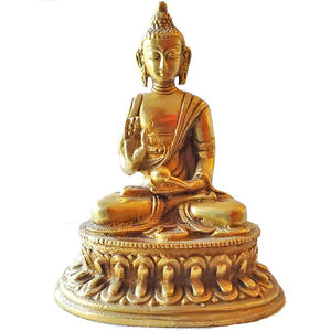 """The Golden"" Buddha Brass Statue"