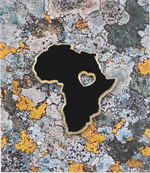 """Africa"" The Motherland  and Black Lives Matter Map of Africa Enamel Pin"