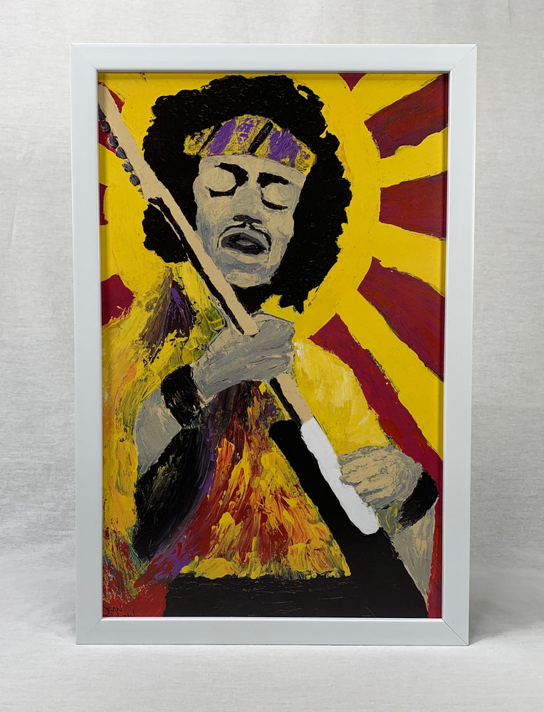"""Future Hendrix"" Framed Print"